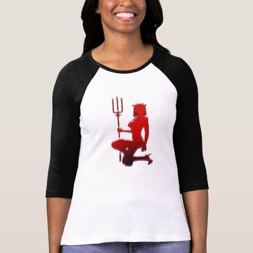 Red Devil Girl Happy Halloween +gift Shirts