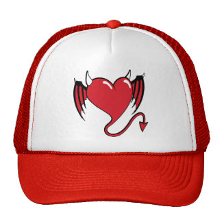 red devil heart trucker hat