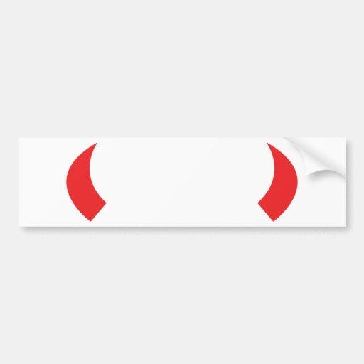 red devil horns icon bumper sticker