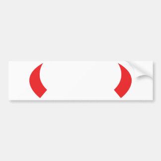 red devil horns icon car bumper sticker