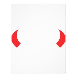 red devil horns icon flyer