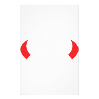 red devil horns icon stationery