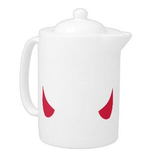 Red devil horns teapot