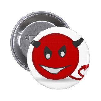 Red Devil Pinback Button
