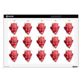 "Red Devil Satan Demon Hell Horns 17"" Laptop Skins"