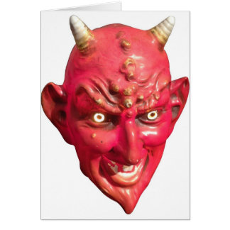 Red Devil Satan Demon Hell Horns Stationery Note Card