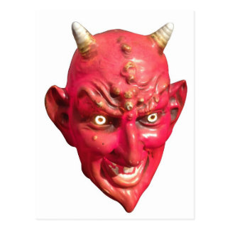 Red Devil Satan Demon Hell Horns Postcard