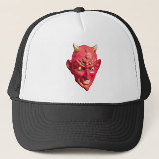 Red Devil Satan Demon Hell Horns Trucker Hat