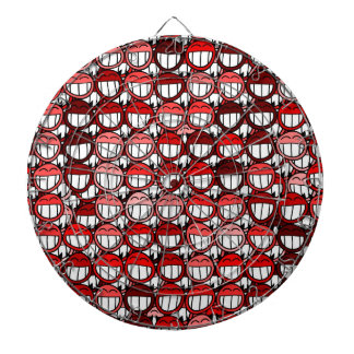 Red Devil Smiley Faces Cover This Dart Game Dart Board