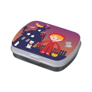 Red Devil Treats for the Halloween Jelly Belly Candy Tin