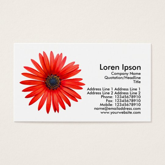 Red Devil - White Business Card