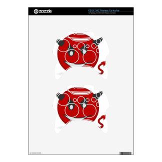 Red Devil Xbox 360 Controller Skin