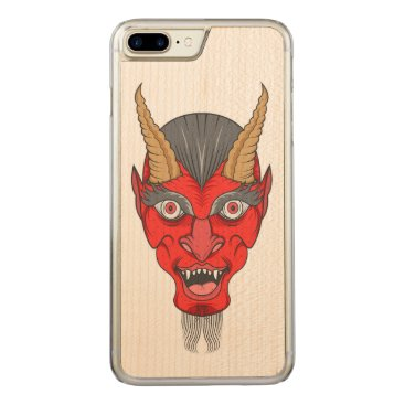 Halloween Themed Red Devill Illustration Carved iPhone 7 Plus Case