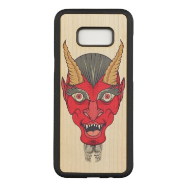 Halloween Themed Red Devill Illustration Carved Samsung Galaxy S8  Case