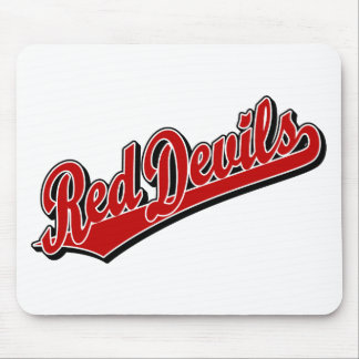 Red Devils in Red and White Mouse Pad