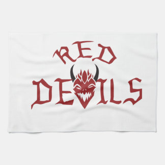 RED DEVILS HAND TOWELS