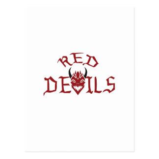 RED DEVILS POSTCARD