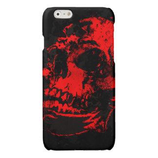 Red Devil's Skull Creepy Artwork Glossy iPhone 6 Case