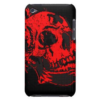Red Devil's Skull Creepy Artwork iPod Case-Mate Case