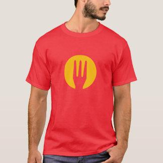 Red diabolic Belgium French fries fork T-Shirt