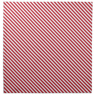 Red Diagonal Lines Cloth Napkin