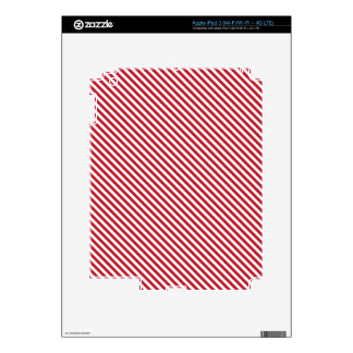 Red Diagonal Lines Decals For iPad 3
