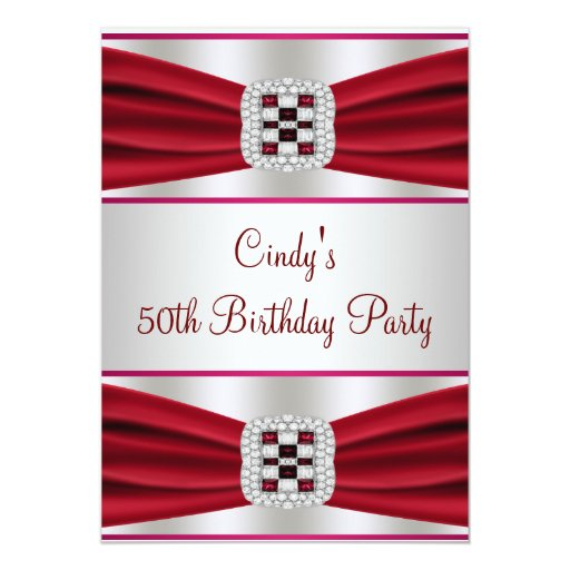 Red Diamond 50th Birthday Invitation  Zazzle. Stucco Decorative Moldings. Craft Room Furniture Ideas. Decorative Sink Drains. Sailboat Baby Shower Decorations. Wood Decorative Trim. Rooms To Go Chest Of Drawers. Small Room Heaters. Decorative Post Covers