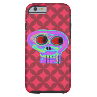 Red Diamond and Candy Skull Iphone 6 Case