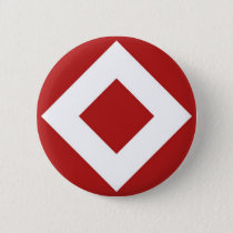 Red Diamond, Bold White Border Button