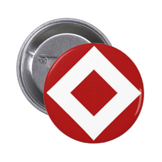 Red Diamond, Bold White Border Button