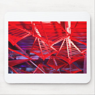 Red Diamond Frames Mouse Pad
