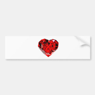 red diamond heart bumper sticker