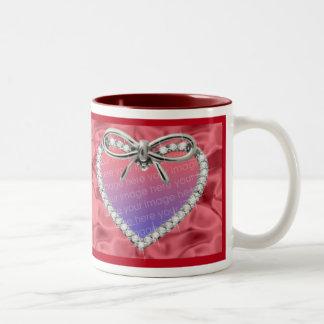 Red Diamond Heart Frame Mug