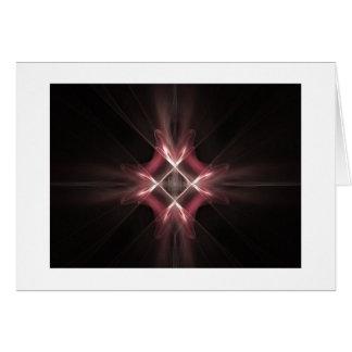 Red Diamond Light Fractal Art Greeting Card
