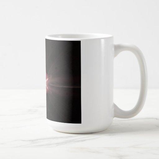 Red Diamond Light Fractal Art Coffee Mug