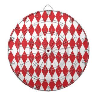 Red Diamond Modern Retro Pattern Dart Board