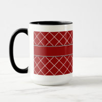 Red Diamond Monogrammed Mens Mug