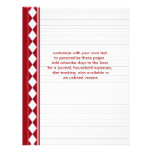 red diamond pages, customize with your own text custom letterhead
