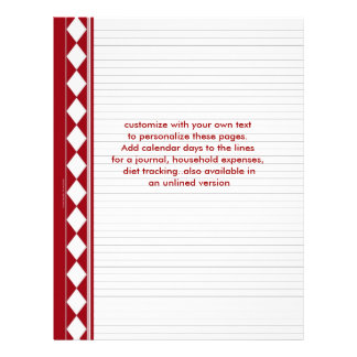 red diamond pages, customize with your own text letterhead