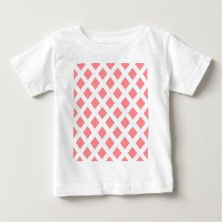Red Diamond Pattern Baby T-Shirt