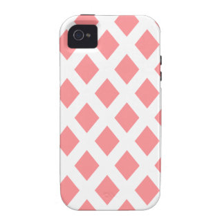 Red Diamond Pattern iPhone 4 Cover