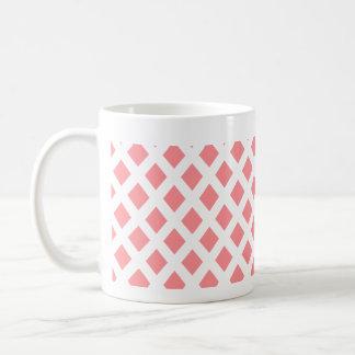 Red Diamond Pattern Coffee Mug