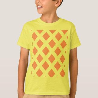 Red Diamond Pattern T-Shirt