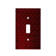 Red Diamond Plate Light Switch Cover