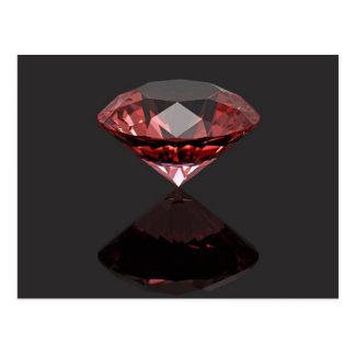 Red diamond ruby postcard