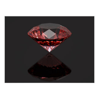 Red diamond ruby poster