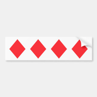 Red Diamond - Suit of Gambling Cards Bumper Sticker