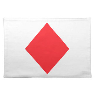 Red Diamond - Suit of Gambling Cards Cloth Placemat
