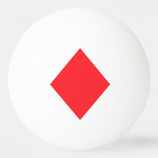 Red Diamond - Suit of Gambling Cards Ping Pong Ball