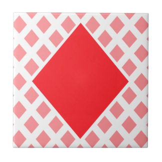 Red Diamond - Suit of Gambling Cards Tile